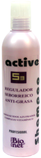 ACTIVE SHAMPOO - S3 Champú Anti-Grasa Regulador Seborréico 250 ml